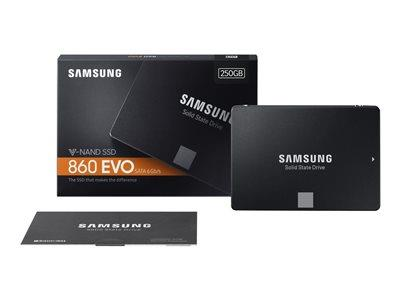 "Samsung 250GB 860 EVO Series SATA 6GB/s 2.5"" SSD"