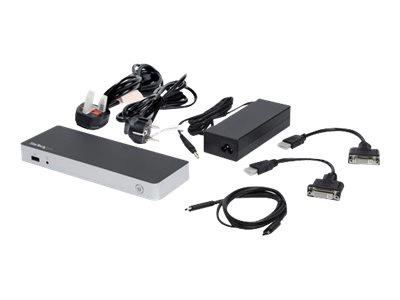 StarTech.com Dual USB C Dock - Windows - PD