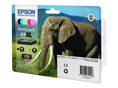 Epson 24XL Multipack - 6-pack - 55.7 ml - XL - black, yellow