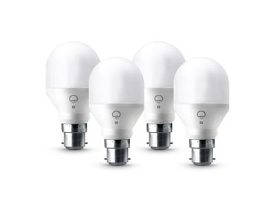 LIFX Mini Colour and White Wi-Fi Smart LED Light Bulb B22 - 4Pack