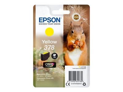 Epson Singlepack Yellow 378 Claria Photo HD Ink