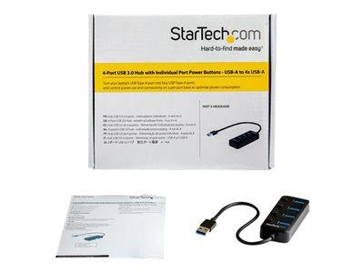 StarTech.com 4-Port USB 3.0 Hub with On/Off
