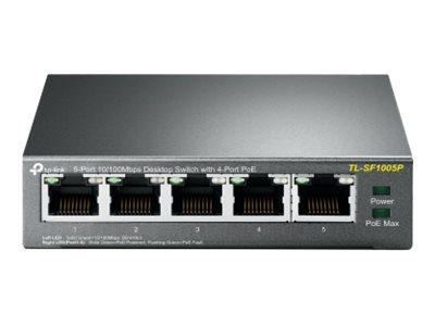 TP LINK TL-SF1005P 5-Port 10/100 Mbps Desktop Switch
