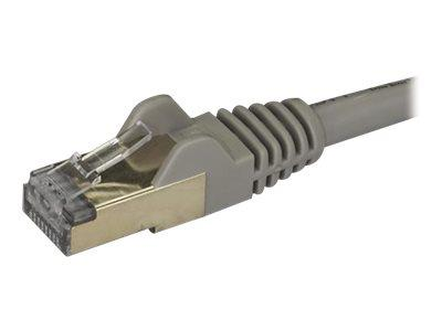 StarTech.com 1.5 m CAT6a Cable - Grey- CAT6a STP Cable - Snagless RJ45