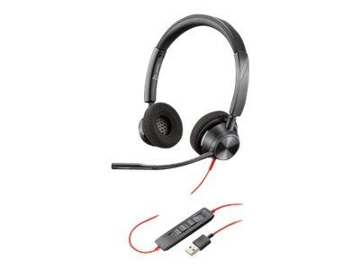 Poly Plantronics Blackwire 3320 Duo On-Ear Wired USB Headset