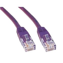 Cables Direct 50cm CAT 6 UTP PVC Injected Moulded Cable - Violet B/Q 250