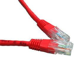 Cables Direct 0.5M Network 6 LSOH Patch Lead - Moulded - Red - B/Q 250