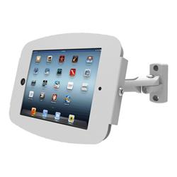 Maclocks iPad Space Enclosure with Swing Arm Wall Mount - White