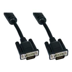 Cables Direct VGA Cable HD-15 (M) to HD-15 (M) - 10m - Moulded, Thumbscrews - Black