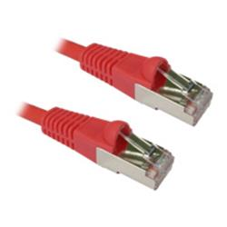 Cables Direct 15m CAT6A SSTP-LSOH Patch Cable Snagless Red - B/Q 25