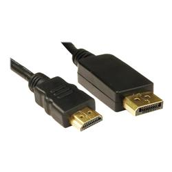 Cables Direct 1m DisplayPort to HDMI M-M Black Cable B/Q 130