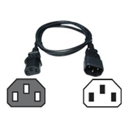 Cables Direct 0.5m IEC C13(F)-IEC C14(M) Black Power Ext Cable