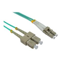 Cables Direct 1MTR LC-SC 50/125 MMD OM3 Fibre Cable - Aqua