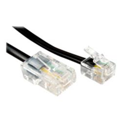 Cables Direct 5m RJ45 M - RJ11 M Cable Black