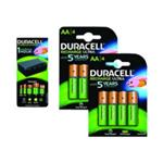 Duracell BUN0101A-EU CEF22-EU + HR06-P Battery Charger Bundle