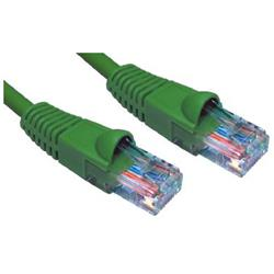 Cables Direct Green 10m CAT 6 UTP LSZH Economy CCA Eared Booted Patch Lead