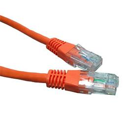 Cables Direct - Patch cable - RJ-45 (M) - RJ-45 (M) - CAT 5e - 25cm - Orange