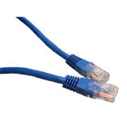 Cables Direct - Patch cable - RJ-45 (M) to RJ-45 (M) - 25cm - UTP - CAT 5e - moulded - Blue