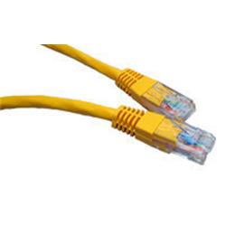 Cables Direct Yellow 0.25m Network 5E 26AWG Moulded Boot