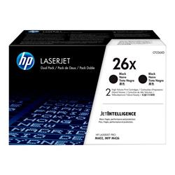 HP 26X HY Original LaserJet 2pk Black