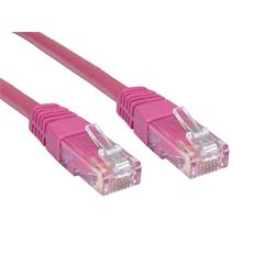 Cables Direct 10 Metre CAT 6 UTP PVC INJ Moulded Cable - Pink B/Q 40