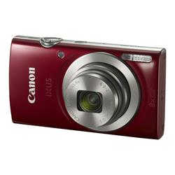 Canon IXUS 185 Camera Red 20MP 8x Zoom HD