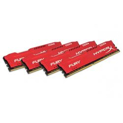 HyperX FURY Red 64GB (4x16GB) DDR4 2400MHz CL15 DIMM Memory