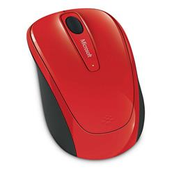 Microsoft Wireless Mobile Mouse 3500 (Flame Red Gloss)
