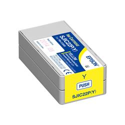 Epson SJIC22P(Y): Yellow Ink cartridge for ColorWorks C3500