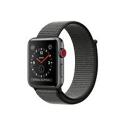 Apple Watch Series 3 GPS + Cellular, 38mm Space Grey Aluminium Case with Dark Olive Sport Loop cheapest retail price