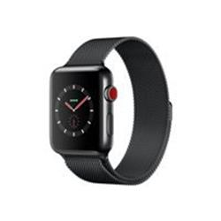 Apple Watch Series 3 GPS + Cellular, 38mm Space Black Stainless Steel Case Space Black Milanese Loop cheapest retail price