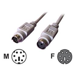 Cables Direct 5Mtr PS/2 M - F Extension Cable - Grey B/Q 100