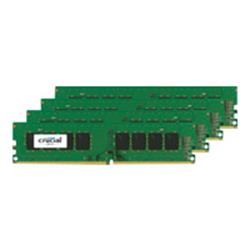 Crucial 32GB Kit (8GBx4) DDR4 2400 MT/s (PC4-19200) CL17 DR x8 Unbuf