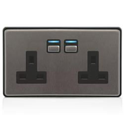 LightwaveRF Gen 2 Smart Socket - 2 Gang