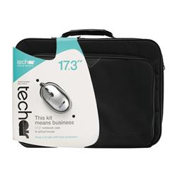 "Techair 17.3"" Black Laptop Bag with Wired Mouse"