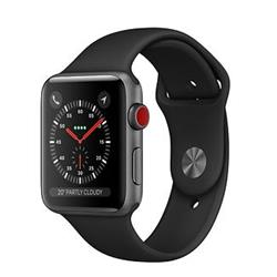 Apple Watch Series 3 GPS + Cellular, 38mm Space Grey Aluminium Case with Black Sport Band
