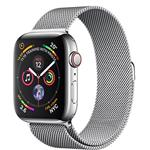 Apple Watch Series 4 GPS + Cellular, 40mm Stainless Steel Case with Milanese Loop