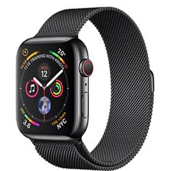 Apple Watch Series 4 GPS + Cellular, 44mm Space Black Stainless Steel Case Space Black Milanese Loop