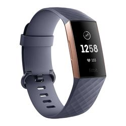 Fitbit Charge 3 Fitness Tracker - Blue Grey / Rose-Gold Aluminium