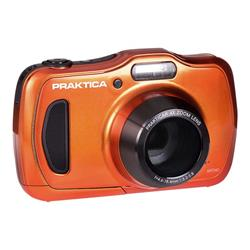 Praktica Luxmedia WP240 Orange Camera Kit inc 16GB MicroSD Card and Case