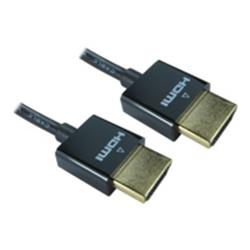 Cables Direct Slim HDMI Ethernet Cable 0.5m - Black
