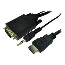 Cables Direct 1m HDMI (Source) M To VGA (Display) M Cable + Audio Cable