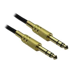 Cables Direct 2m 6.35mm Male to Male AUdio Cable - Gold Connector