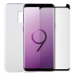 Minute One Glass Screen Protector + Clear Case Bundle - Galaxy S9