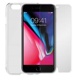 Minute One iPhone 8/7/6 Glass Screen Protector + Clear Case Bundle