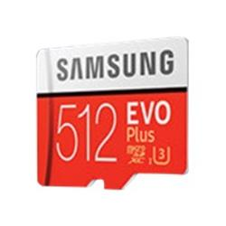 Samsung 512GB EVO Plus UHS-I U3 microSDXC card with adapter