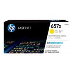 HP 657X High Yield Yellow Original LaserJet Toner Cartridge