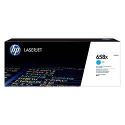 HP 658X High Yield Cyan Original LaserJet Toner Cartridge
