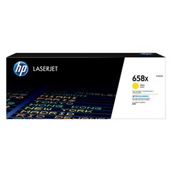 HP 658X High Yield Yellow Original LaserJet Toner Cartridge