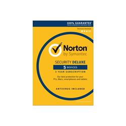Norton Security Deluxe 3.0 - 1 User/5 Devices for 3 Years